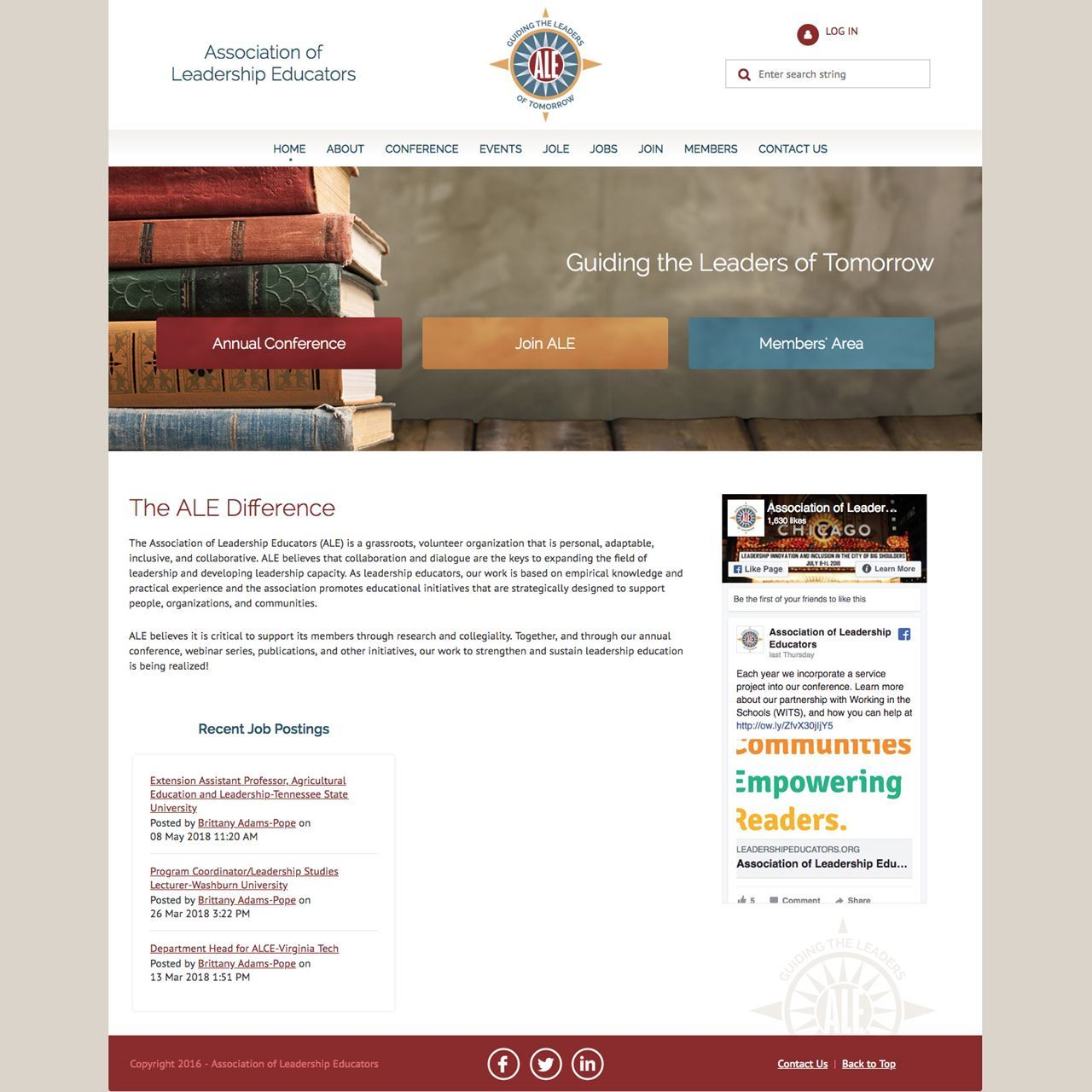 Association of Leadership Educators Website - After