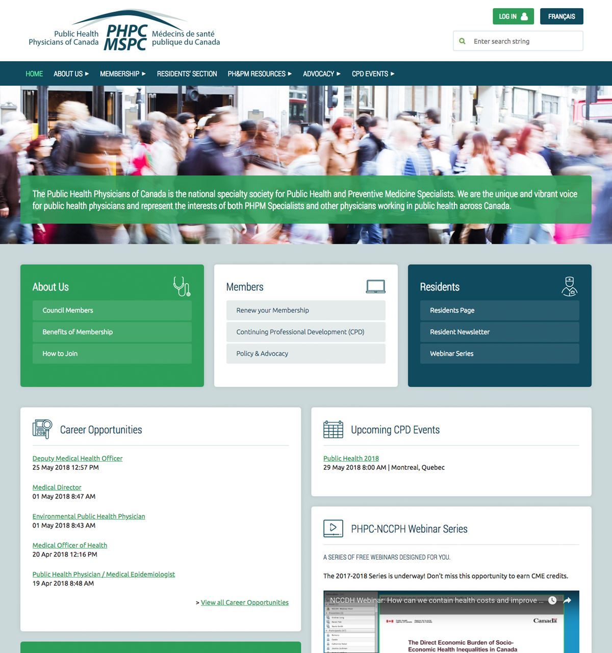 Public Health Physicians of Canada Website - After